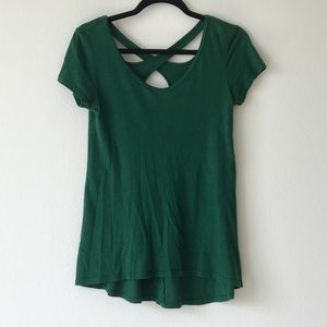 Forest Green Anthropologie Top
